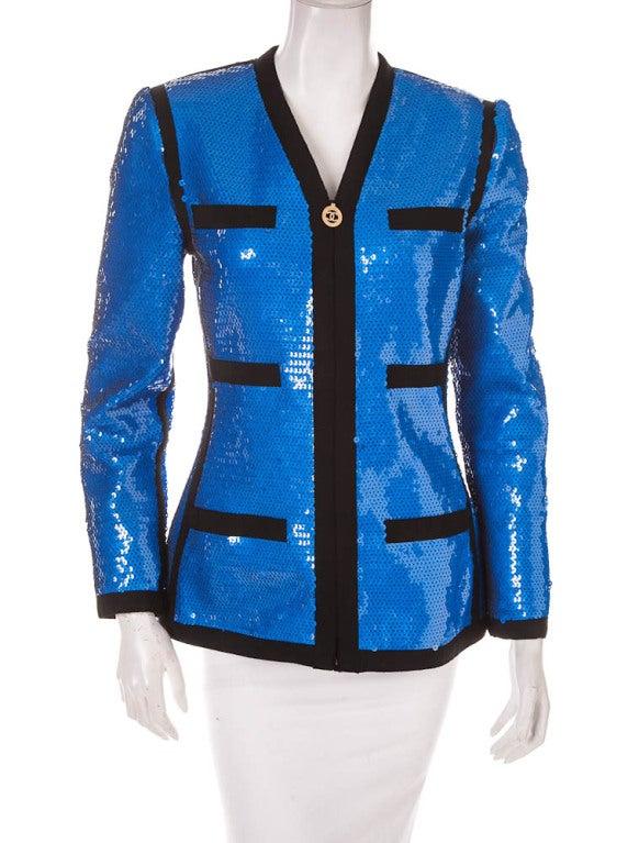 Chanel sequin jacket 1991 2