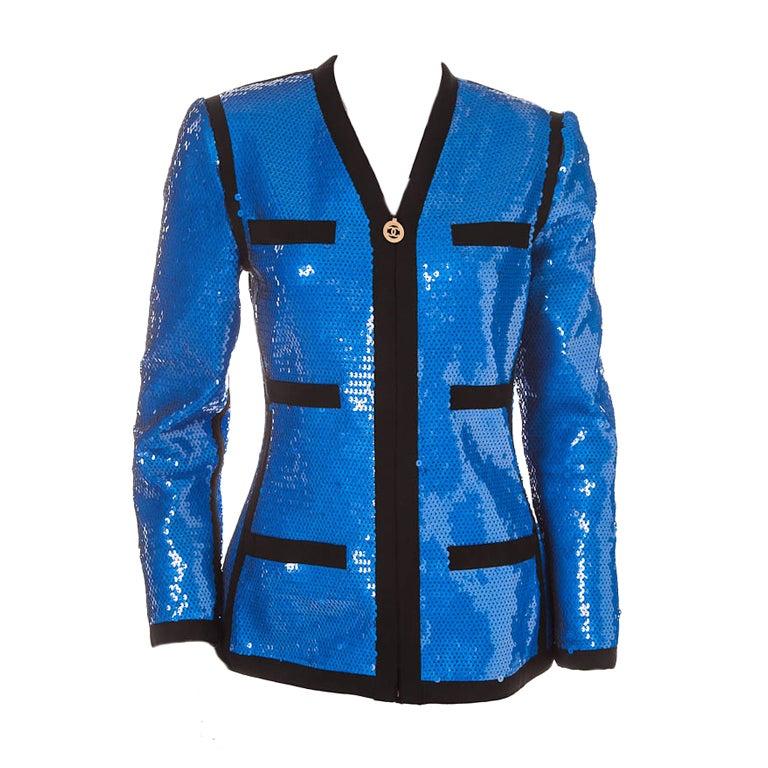 Chanel sequin jacket 1991 1