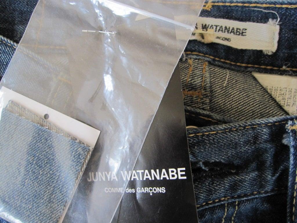 Junya Watanabe denim and lace mermaid skirt  sz S 6