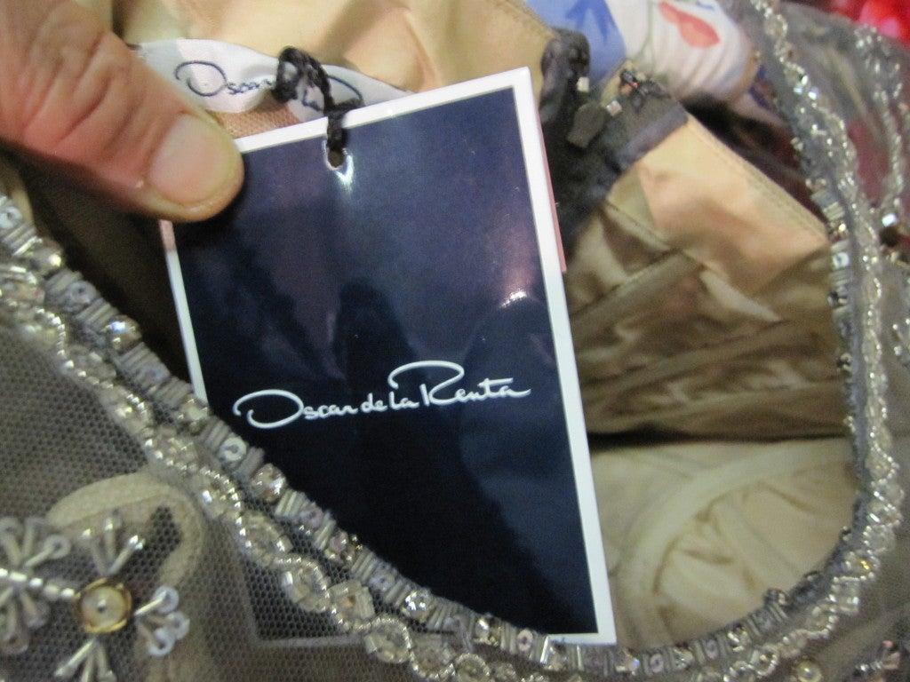 Oscar de la Renta amazing embelished ball gown New 9