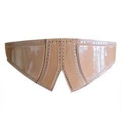 Azzedine Alaia patent leather belt