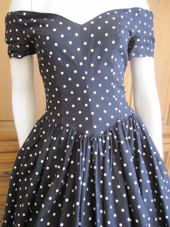 Jean Louis 1950's sweet polka dot dress I magnin 3
