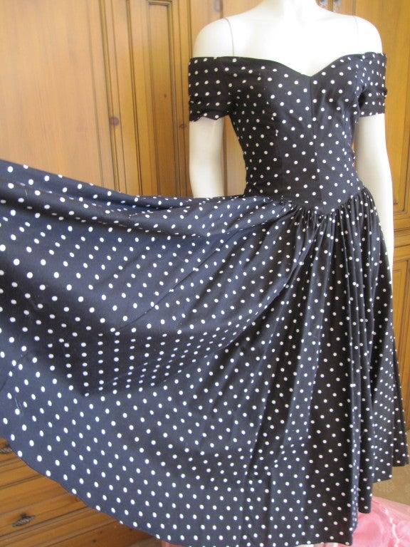 Jean Louis 1950's sweet polka dot dress I magnin 6