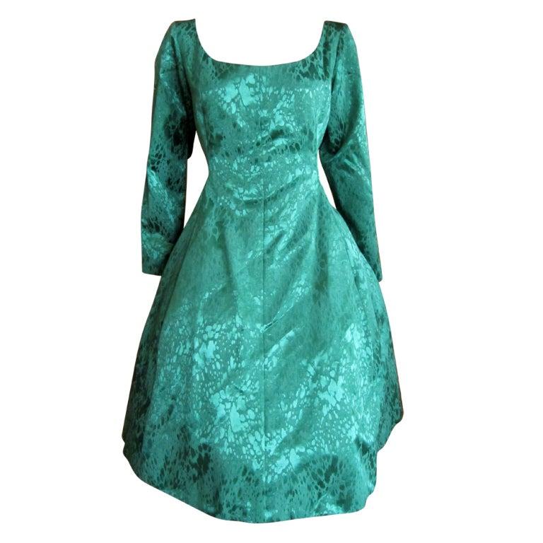 yves saint laurent rive gauche vintage pouf dress sz 44 at. Black Bedroom Furniture Sets. Home Design Ideas