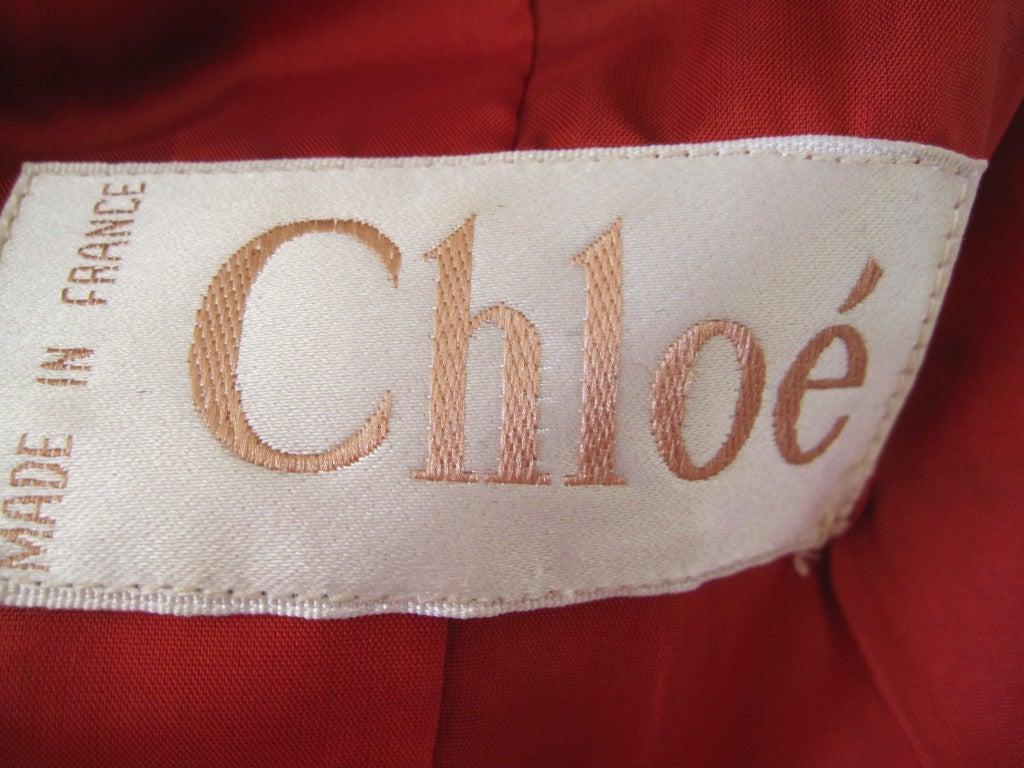 Chloe Karl Lagerfeld era Tartan plaid coat 5