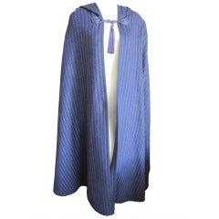 Yves Saint Laurent Rive Gauche vintage hooded cape