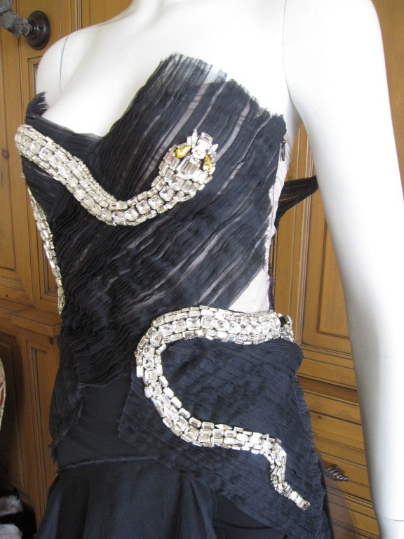 Rare Gucci by Tom Ford Fall 2004 Snake Dress 4