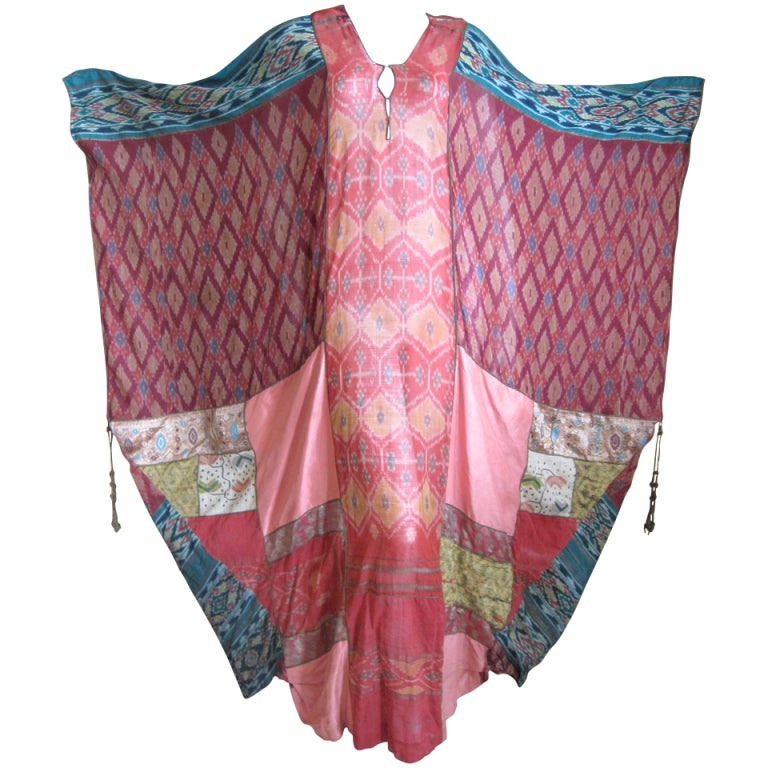 Thea Porter Couture folkloric patchwork caftan 1