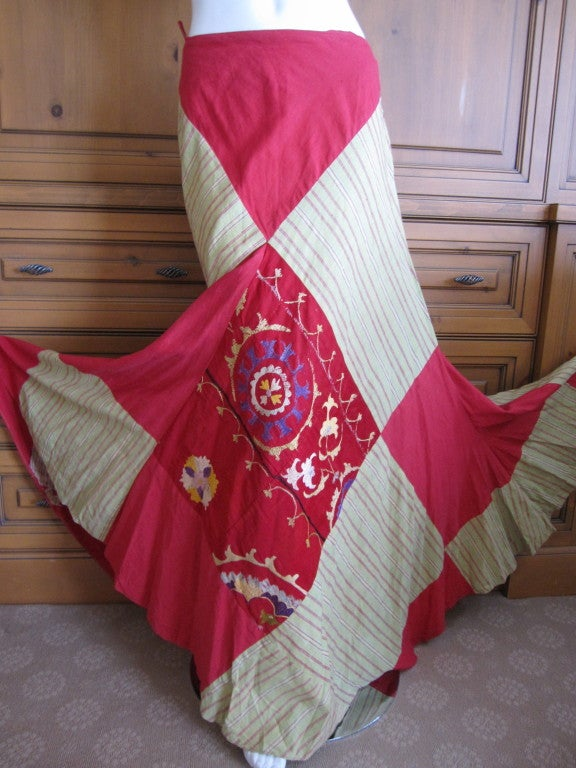 Thea Porter Couture folkloric patchwork gypsy skirt 3