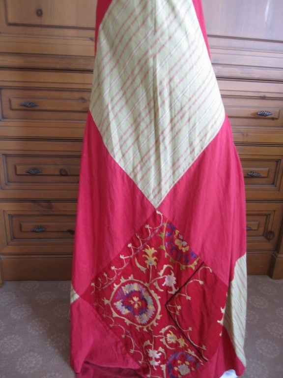 Thea Porter Couture folkloric patchwork gypsy skirt 5