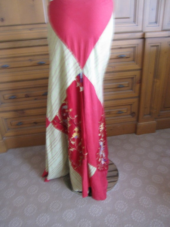 Thea Porter Couture folkloric patchwork gypsy skirt 6