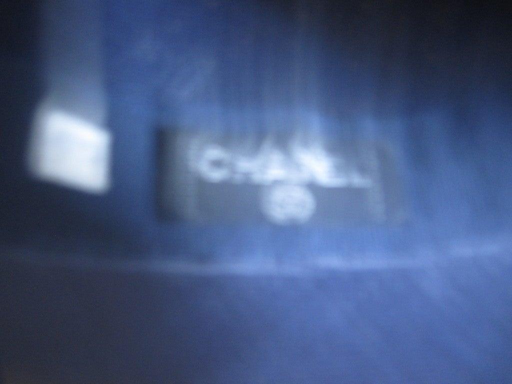 Chanel extra fine navy blue straw wide brim hat 4
