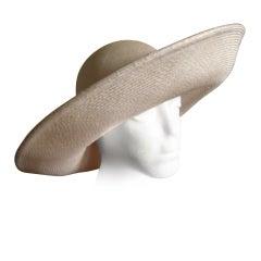 Galanos beautiful wide brim straw hat
