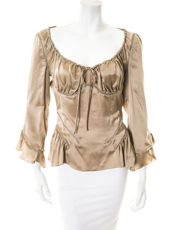 Alexander McQueen Milkmaid silk top Fall 2002 2