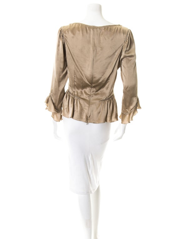 Alexander McQueen Milkmaid silk top Fall 2002 3