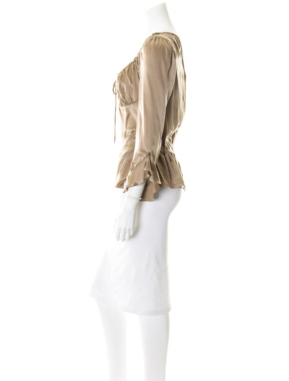 Alexander McQueen Milkmaid silk top Fall 2002 image 4