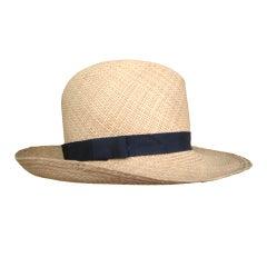 Yves Saint Laurent Rive Guache vintage straw wide brim hat