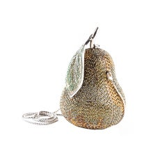 Judith Leiber Golden Pear Jeweled Minaudiere