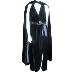 Mollie Parnis Madame X dress with matching floor length cape