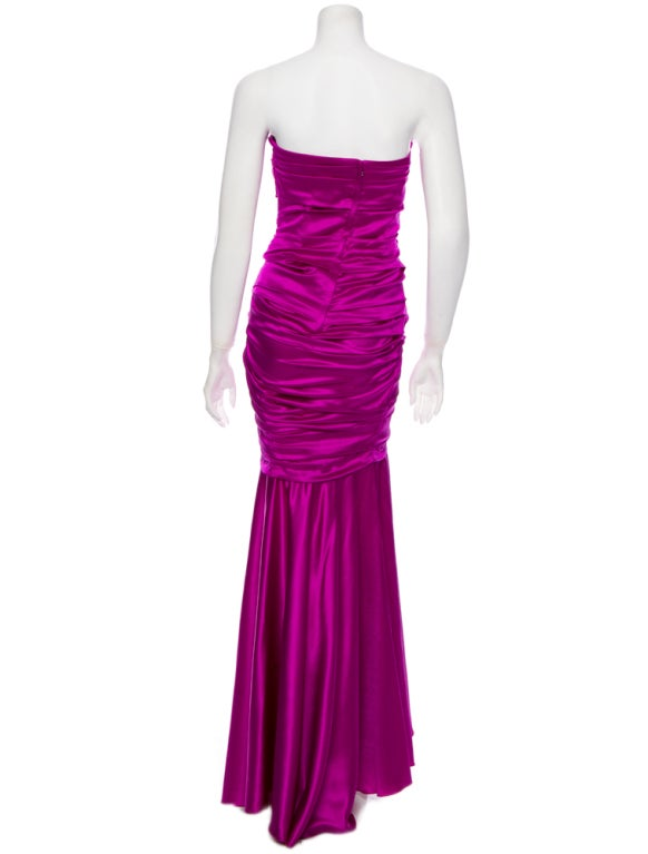 Dolce & Gabbana sexy shocking pink silk evening dress 3