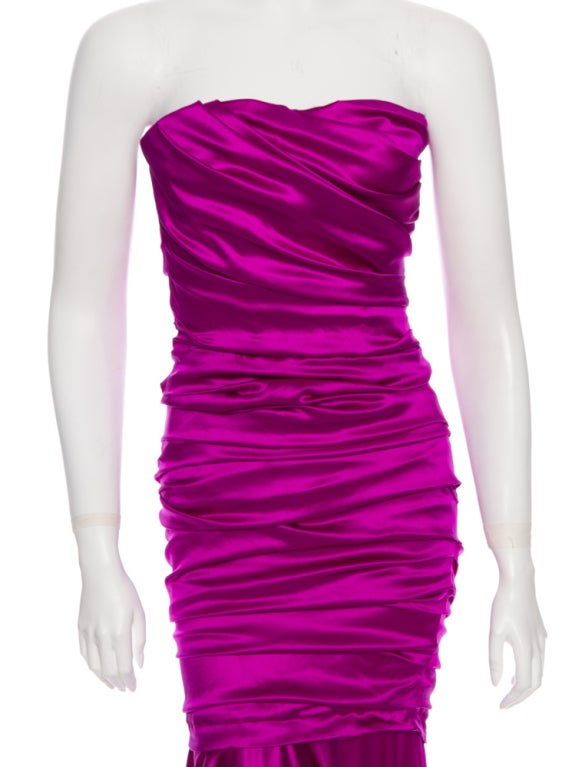 Dolce & Gabbana sexy shocking pink silk evening dress 4