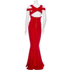 Narcisco  Rodriguez red racerback dress