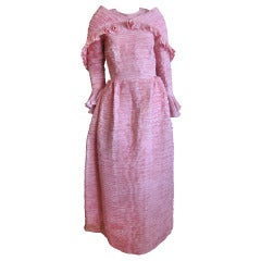 Sybil Connolly pleated Irish handkerchief linen dress & wrap