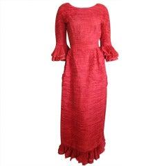 Sybil Connolly pleated Irish handkerchief linen dress