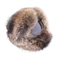 Loro Piana Men's pure cashmere fox trooper hat New