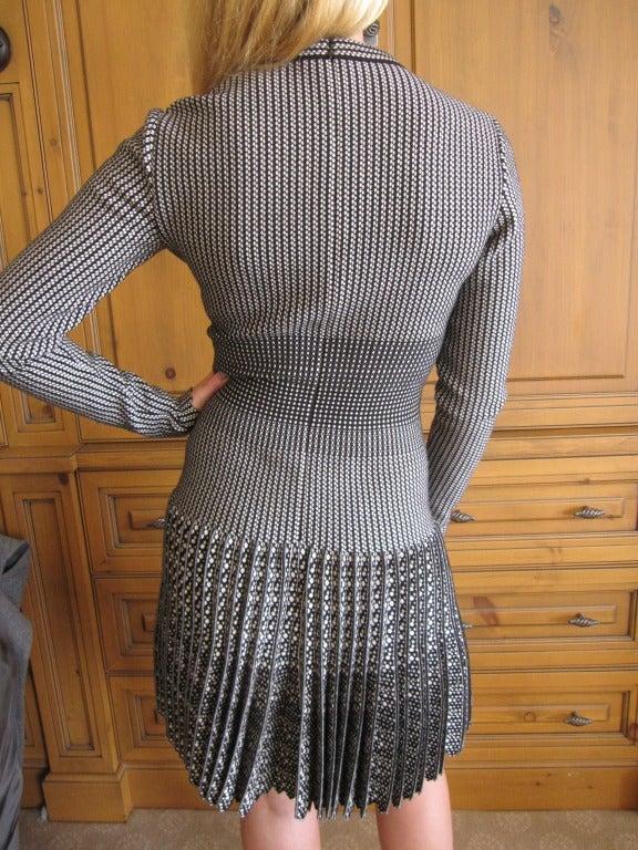 Azzedine Alaia  black and white skater skirt Salamandre dress New w Tags 5