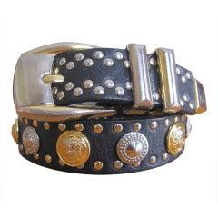 Gianni Versace 1992 Men's Medusa studded belt