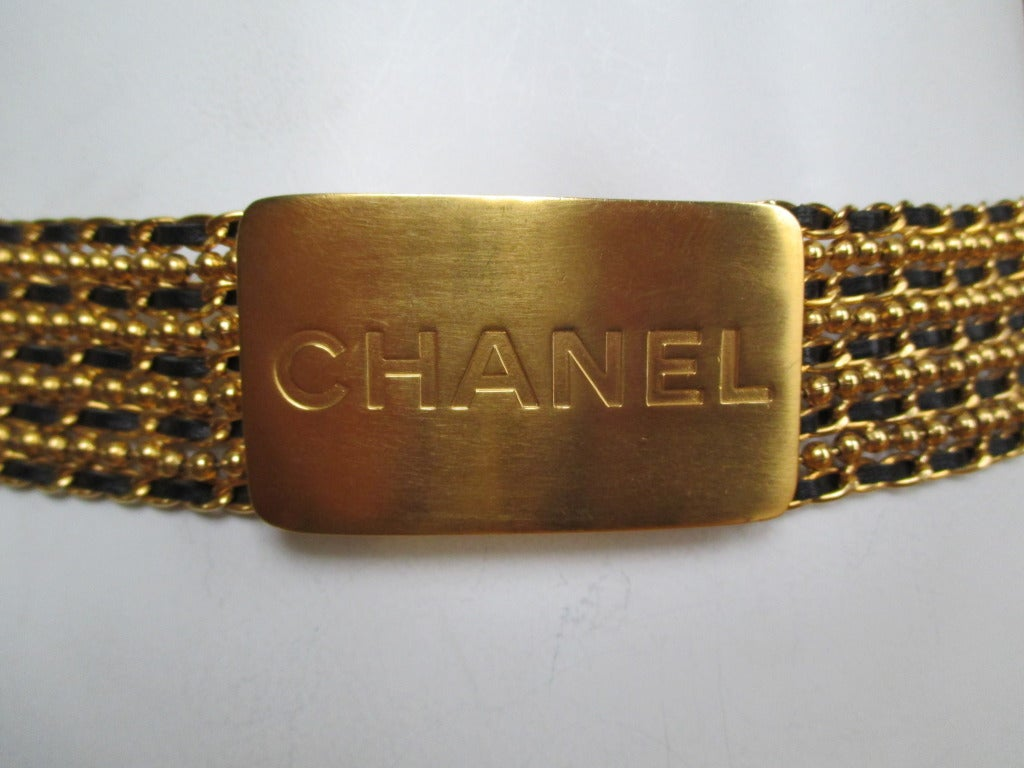 Chanel Ball chain with leather chain belt with Bold Chanel Buckle 3