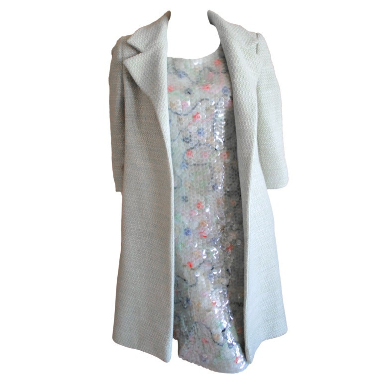 Chanel fish scale sequin dress with matching coat 1