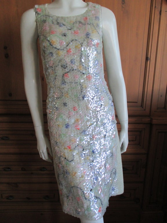 Chanel fish scale sequin dress with matching coat 2