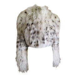 Ostrich plume trimmed Lynxx cropped jacket from Dennis Basso