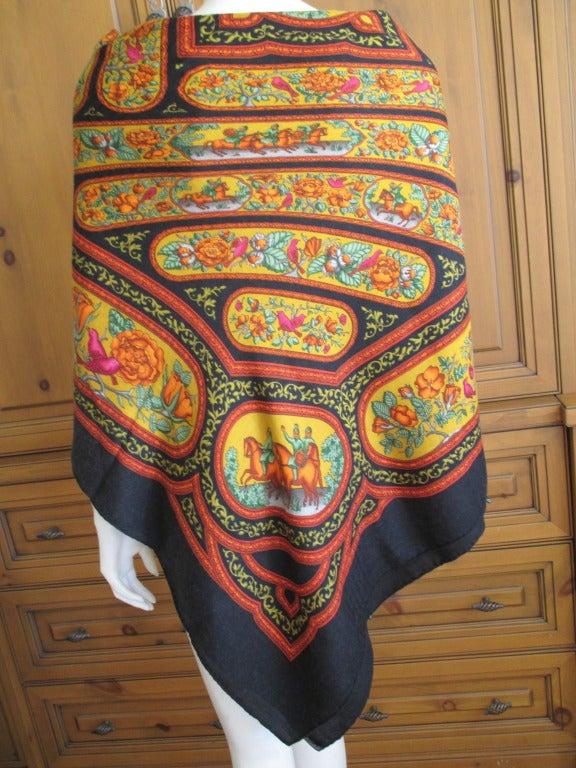 "Hermes rare ""Qalamdan"" cashmere and silk shawl / blanket 2"