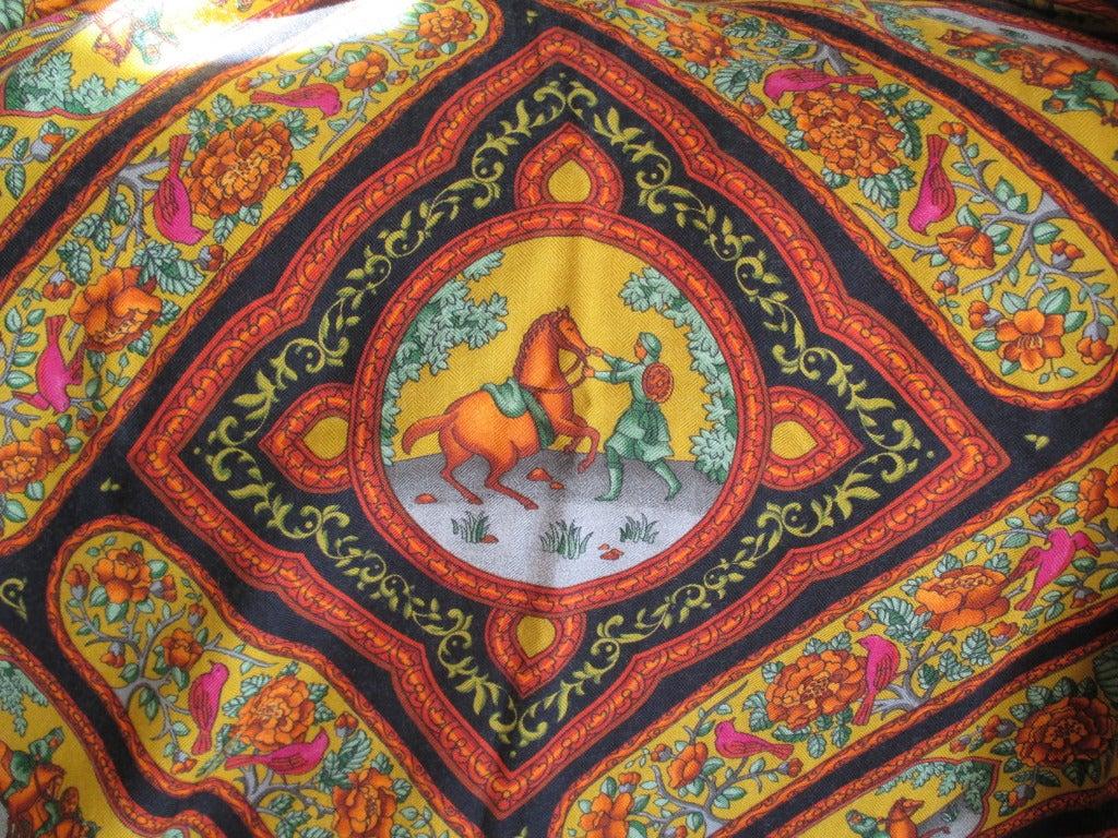 "Hermes rare ""Qalamdan"" cashmere and silk shawl / blanket 5"