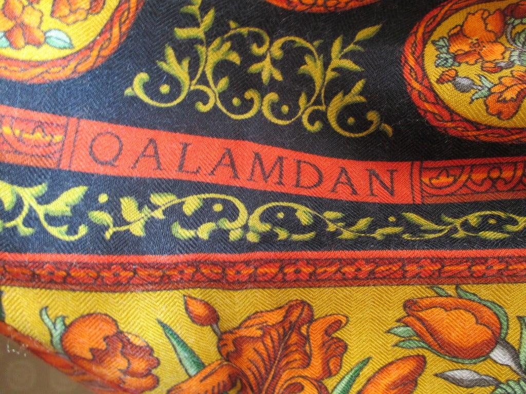 "Hermes rare ""Qalamdan"" cashmere and silk shawl / blanket 7"