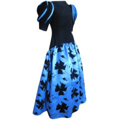 Arnold Scaasi Black and Blue Ballgown