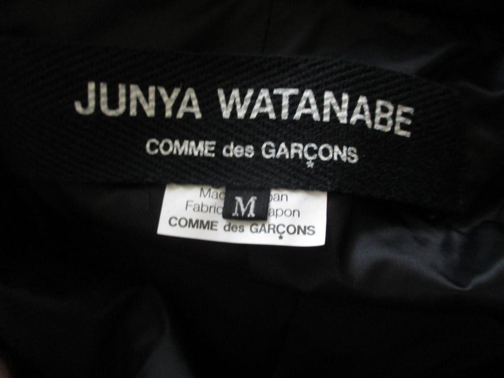 Junya Watanabe Comme des Garcons Black Down Zip Front Coat/Dress For Sale 2