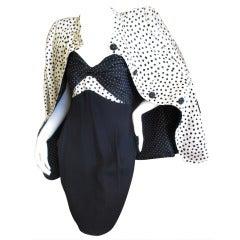 Geoffrey Beene Polka Dot Dress and Jacket