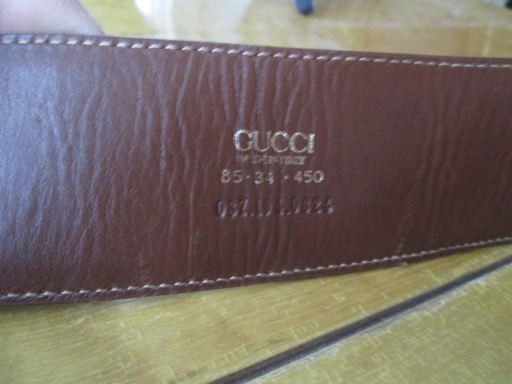 Gucci Genuine Alligator Wide Horse Bit Belt 4