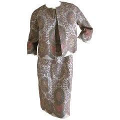 Sarmi Haute Couture Bergdorf Goodman 1959 Beaded Dress and Jacket