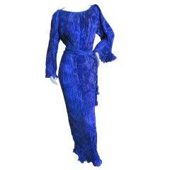 Patricia Lester Wales Pleated Purple Dress