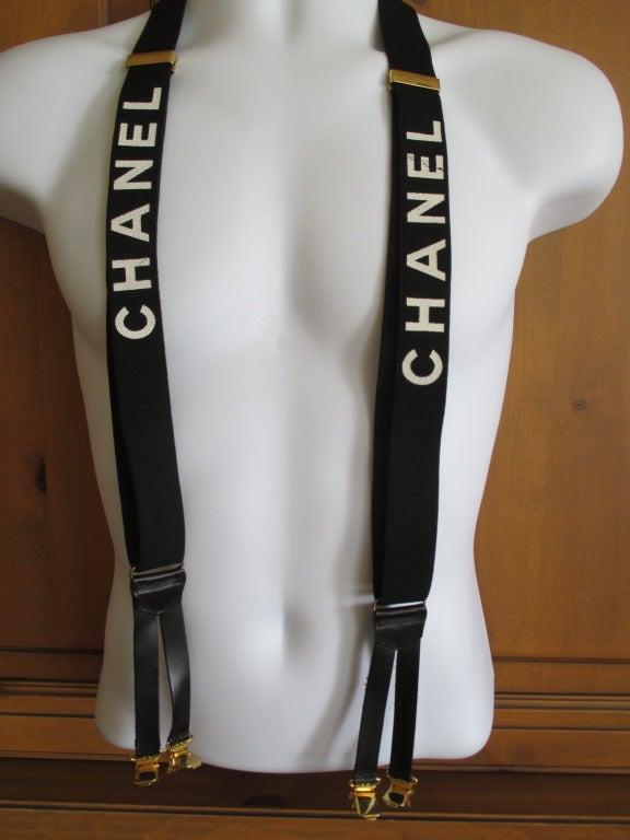 Chanel Black Suspenders 3