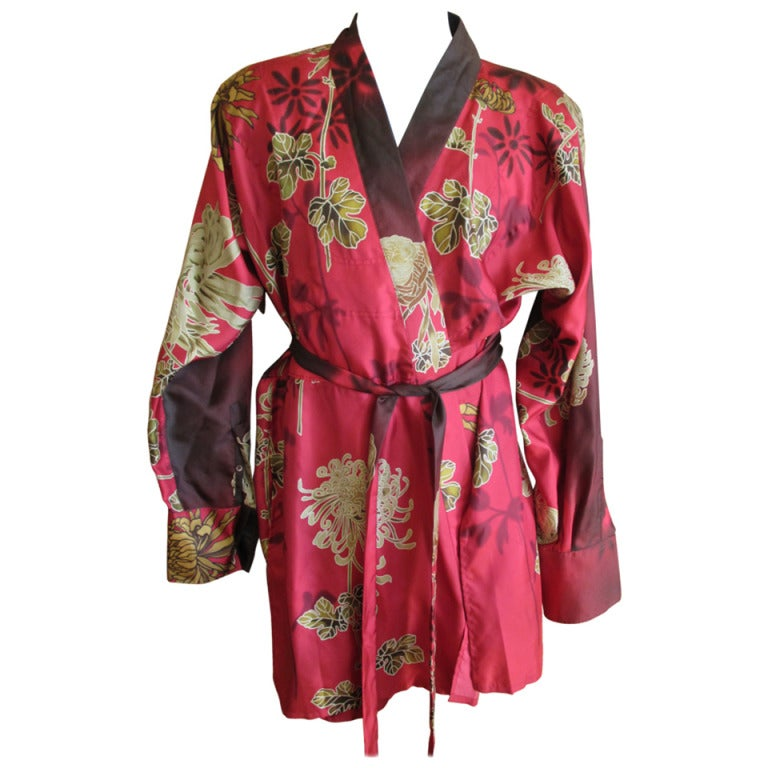 Gucci By Tom Ford Mens Silk Dressing Robe At 1stdibs