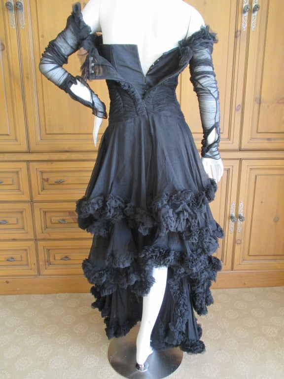 Women's Alexander McQueen F' 2002 Dramatic Black Dress For Sale