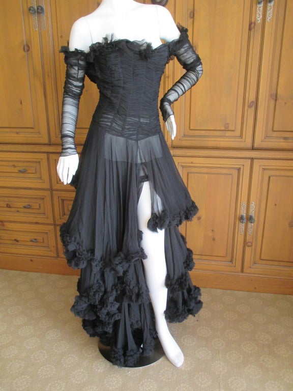 Alexander McQueen F' 2002 Dramatic Black Dress 8