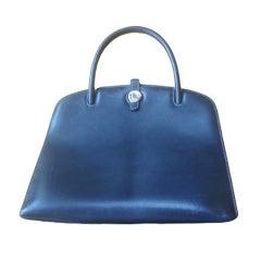 Hermes Navy Blue Handbag