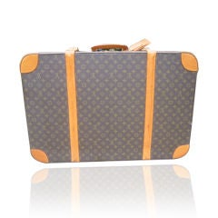 Louis Vuitton Classic Monogram Hard Sided Vintage Suitcase